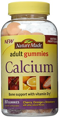 Nature Made Calcium Adult Gummies, 80 Count (Pack of 3) (Best Calcium Supplement For Women Over 40)