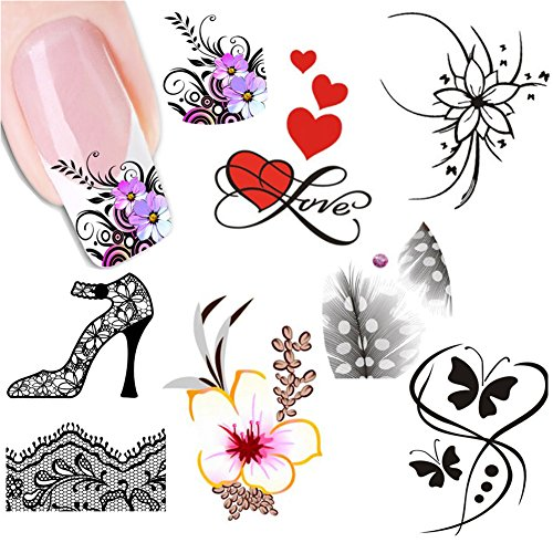 3D Color Butterfly Pattern Temporary Tattoos Stickers - 5