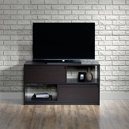 Sauder Square 1 Carbon Ash TV Stand for TVs up to 47