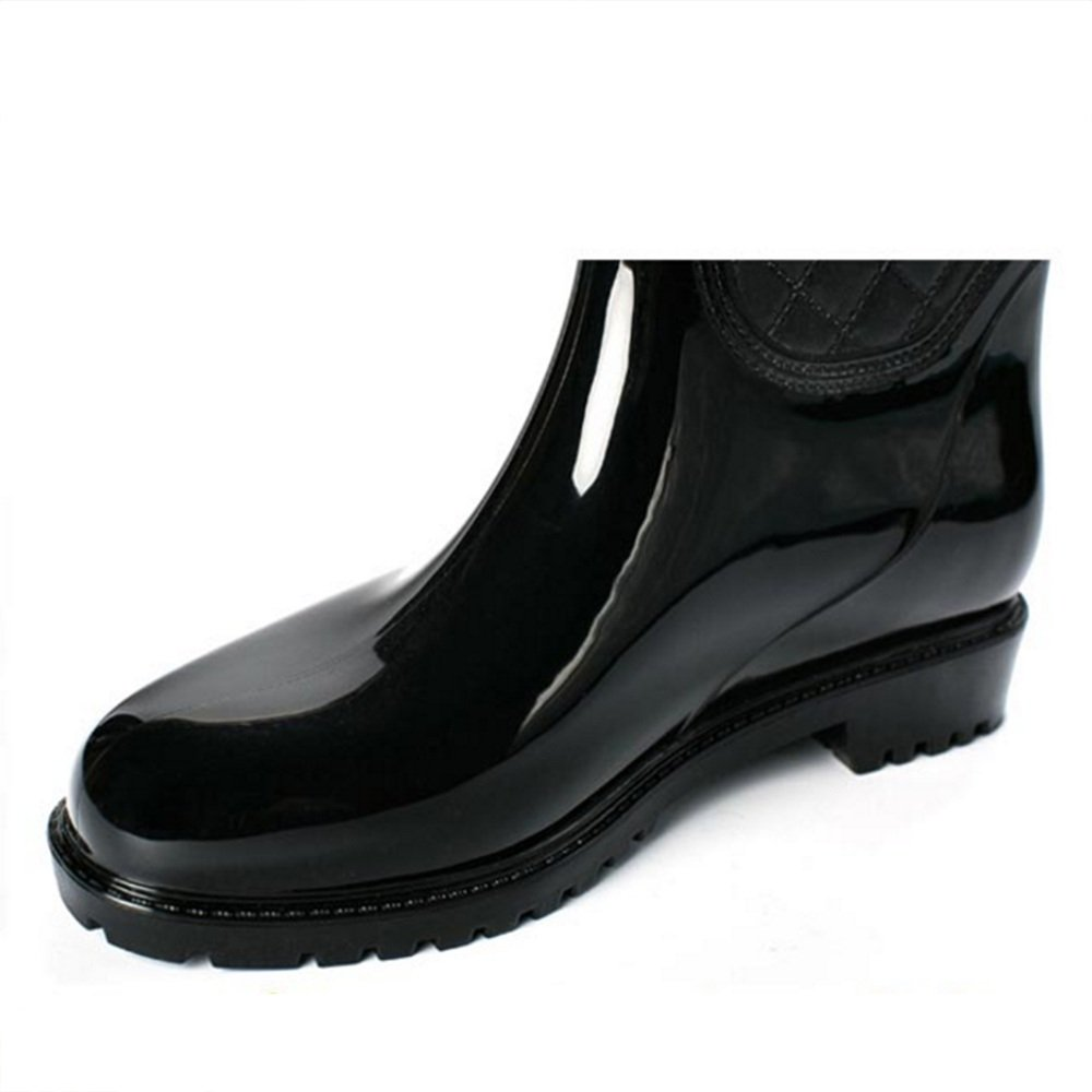 Sexy Mode Hohe Damen Stiefel Erwachsene Stiefel Lange Wasserschuhe Wasser Anti-skid Schuhe Hohe Hilfe Wasser Wasserschuhe Stiefel ( Farbe   Schwarz , größe   EU40 UK7 CN41 ) 58f2cc