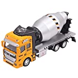 Aivtalk Scale Diecast Cement Mixer Truck Construction Vehicle Transport Car Carrier Truck Toy Model Cars for Boys