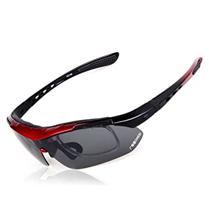 1651053bb1d Luya Fishing Outdoor Sports Sun Polarized Interchangeable Outdoor Riding Glasses  Set Sports Glasses 5 Group Lenses Anti-UV Sunglasses (Color   C)  ...
