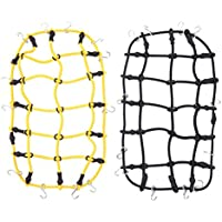 Childplaymate 2pcs RC Car Synthetic Roof Rack Cargo Luggage Net for 1:10 Traxxas SCX10