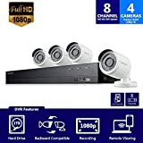 Samsung WisenetSDH-B74041 8 Channel 1080p Full HD DVR Video Security Camera System 4 Outdoor BNC Bullet Camera (SDC-9443BC) with 1TB Hard Drive