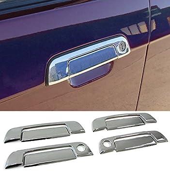 Embellecedores cromados de manetas de puertas (ver modelos de vehículo compatibles en la descripción). Tapas adhesivas cromadas para tiradores exteriores de ...