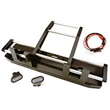 Integy RC Model Hop-ups C27117BLACK CNC Alloy Front Bumper w/ LED for Tamiya 1/14 King Hauler & Globe Liner