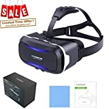 Virtual Reality Headset, VR SHINECON VR Headset VR Goggles for TV, Movies & Video Games - 3D VR Glasses Compatible with iOS, Android and Other Phones Within 4.7-6.0 inch