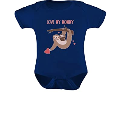 Tstars Love My Mommy Cute Sloth Mother's Day Baby Bodysuit