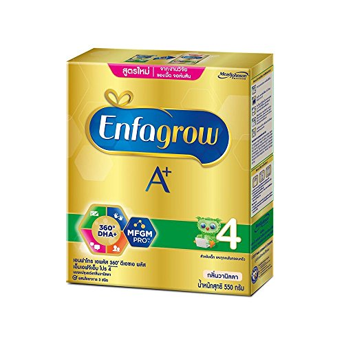 Enfamil Enfagrow Instant Milk Powder A+ 360 Mind Plus 4,Stage4 Vanilla Flavor (19.4 Oz/550g)Appropriate for over 3 years and All the family,Give your baby the nutrients fully every day