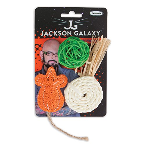 Petmate jackson galaxy natural play time ball 3 pack for Jackson galaxy pet toys