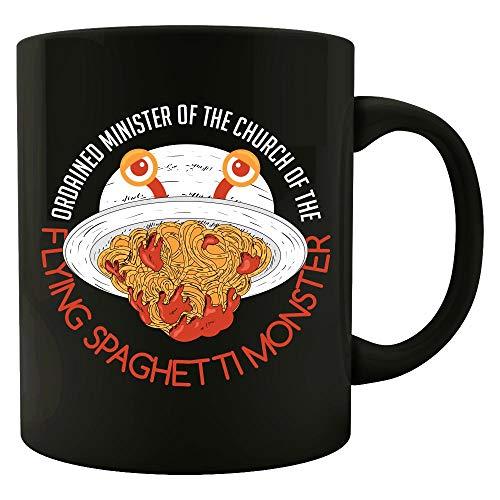 Funny Spaghetti - Ordained Minister Of The Flying Monster - Food Humor - Mug
