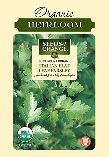 Seeds of Change 01360 Certified Organic Parsley, Italian Flat Leaf (Italian Garden Collection)