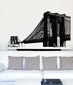 Amazoncom Stickerbrand Urban Vinyl Wall Art Brooklyn Bridge New - New york wall decals