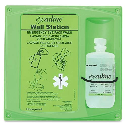 - Honeywell 32-000460-0000 Fend-All 16 Ounce Single Bottle Eye Saline Sperian Sterile Eye Wash Wall Station, English, 15.34 fl. oz, Plastic, 1 x 1 x 1