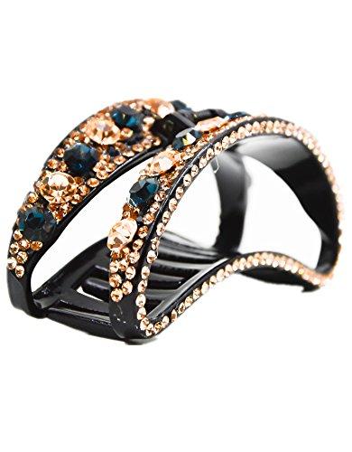 Fancyin New arrival Luxury 3.6'' Crystal colorful rhinestones hair claw clip for women by Fancyin