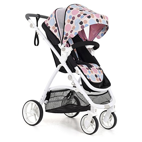 2018 New Style—Babysing high Landscape M-Go Stroller Baby Stroller Four Seasons Universal Folding cart Baby Stroller (Sweet Wave Color)