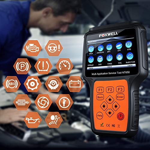 FOXWELL NT650 Automotive Code Reader Obd2 Scanner ABS/Airbag/SAS/EPB/DPF/BRT/EPS/CVT/Oil Service Reset Car Special Service Diagnostic Scan Tool by FOXWELL (Image #1)
