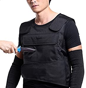 Body armor anti knife stab front and back armor proof vest for Best shirt to wear under ballistic vest