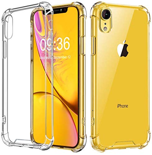 New Crystal Case - New Case for iPhone XR, Crystal Clear, Reinforced Corners TPU Bumper Cushion + Anti Scratch Transparent Panel Cover Fit, Wireless Charging Compatible.