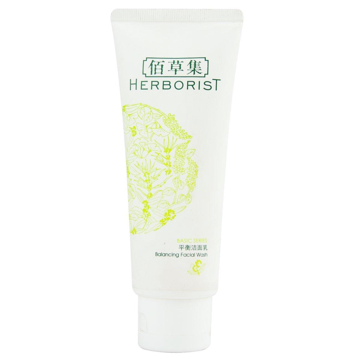 Herborist Balancing Facial Wash (Basic Series) 100ml/3.4oz Eco Lips - Eco Tints Lip Balm Rose Quartz - 0.15 oz. (pack of 12)