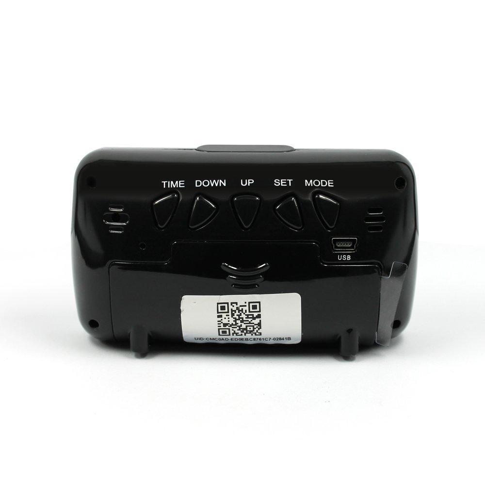 Mengshen® Alarma HD 1080P Wifi Mini oculta reloj cámara de seguridad Inicio y Vigilancia de la visión nocturna de detección de movimiento MS-WH08: ...