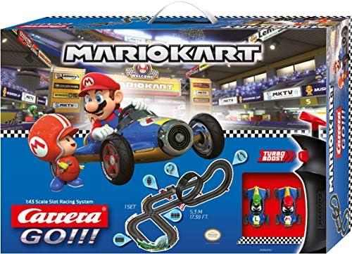 Carrera- Nintendo Mario Kart-Mach 8 Juego con Coches, Multicolor
