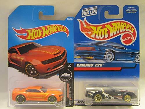 Hot Wheels 2013 Chevy Camaro Special Edition & Camaro Z28 Die Cast 1/64 Scale 2 Car Bundle! (2013 Camaro Hot Wheels Edition For Sale)