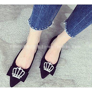 aire caqui mujer libre para soporte verde gris sintética otros tacón y Cómodo al zapatos de piel burdeos elegante de negro HOOxq4