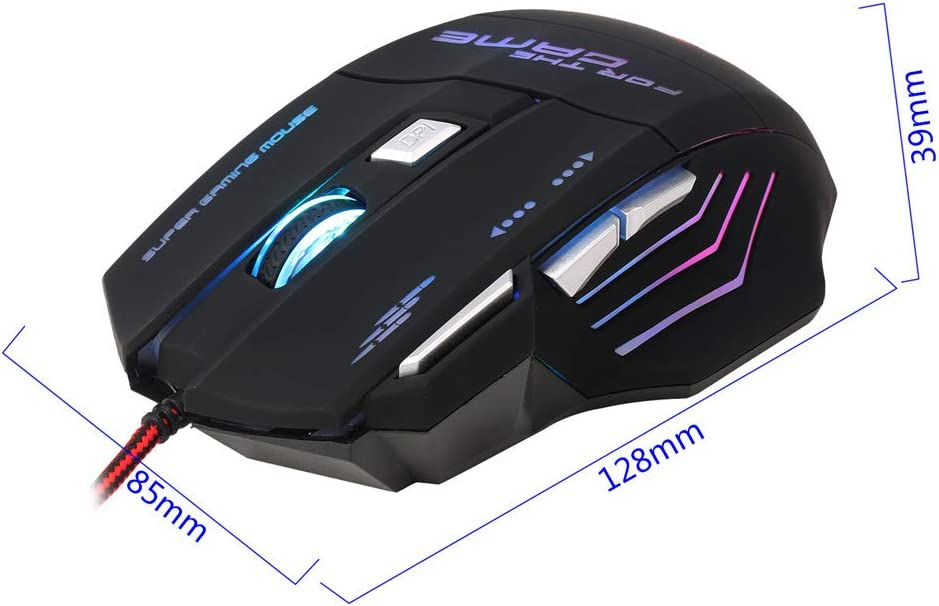 5 Adjustable DPI Ergonomic Mechanical Gaming Mouse Wired Gaming Mouse Computer Accessories Gaming Mouse Office Home