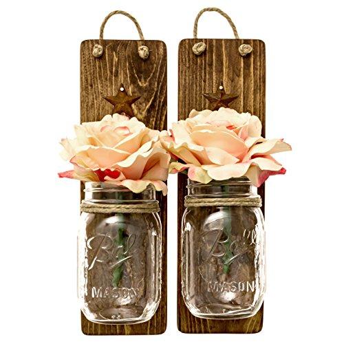 Mason Jar Kitchen Decor Set: Heartful Home Decor Ball Mason Jar Wall Sconces