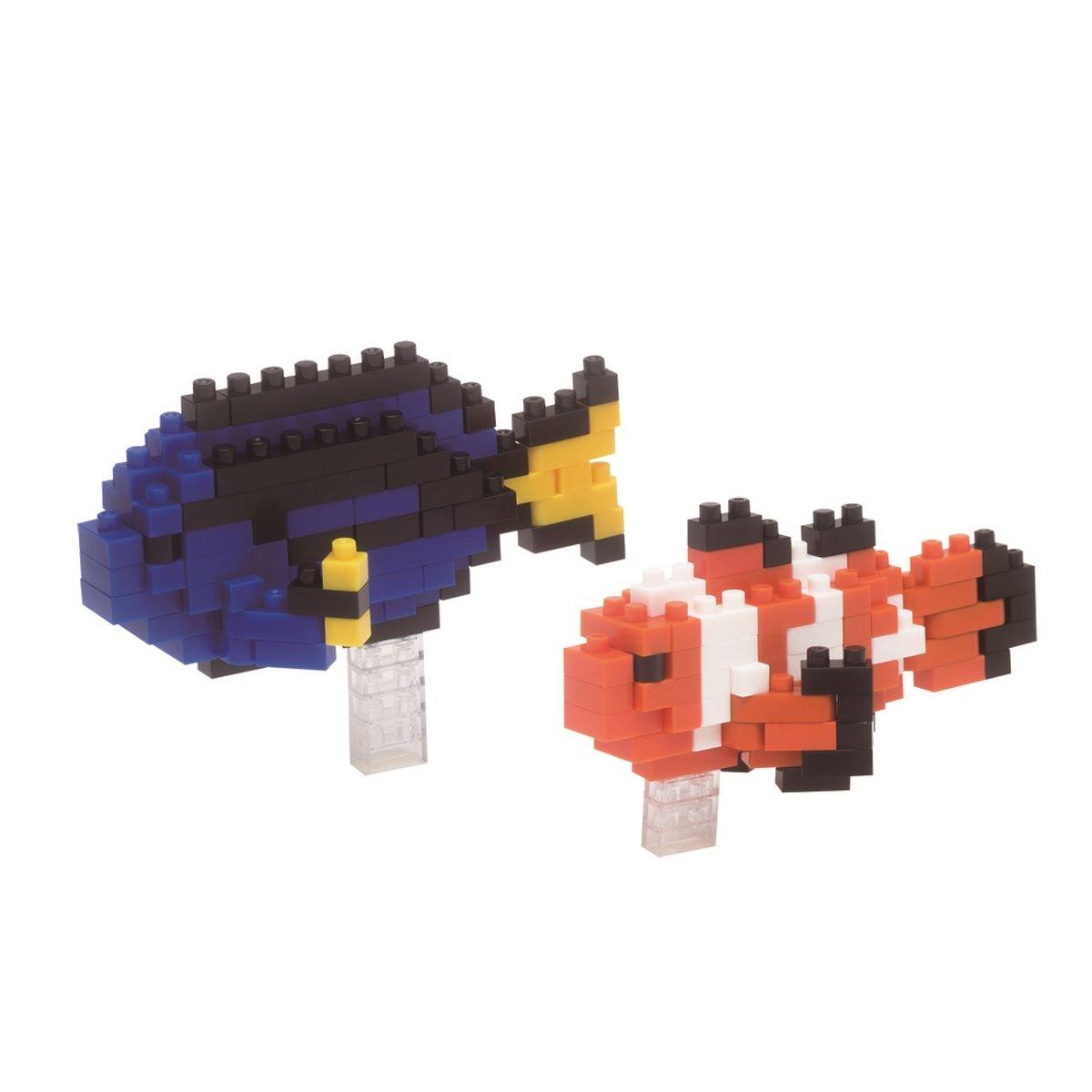 Nanoblock NAN-NBC118 Clown Fish/Palette Surgeon Fish, Juguete de construcción