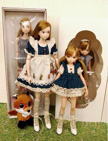 [CCS 16SP momoko & CCSgirl 16SP ruruko set with Blue dress New] (Thumbelina Wig)