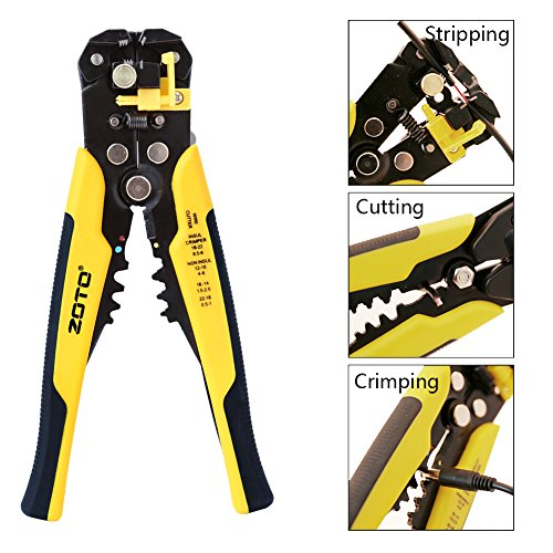 Cutting Wire (Wire Stripper,ZOTO Self-adjusting Cable Cutter Crimper,Automatic Wire Stripping Tool/Cutting Pliers Tool for Industry)
