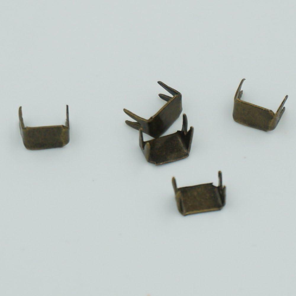 #3 Zipper Stoper Top Stops Bottom Rescue Repair Set Rectangle Bronze Bluemoona 100 Pcs