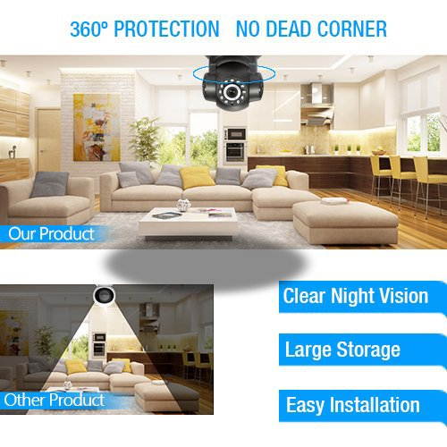 NEW VERSION TENVIS IP Camera -720P IP Camera Supporting Smart Wi-Fi, Night Vision Camera, Smart Camera for Pet Baby Monitor, Home Security Camera Motion Detection Indoor Camera with Micro SD Card Slot by TENVIS (Image #6)