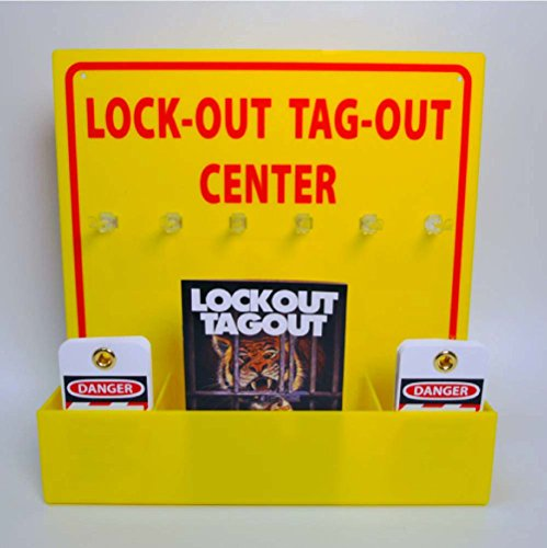 [NMC LOTO3 Lock-Out Tag-Out Center Kit with Handbook and 10 Lockout Tags, 16