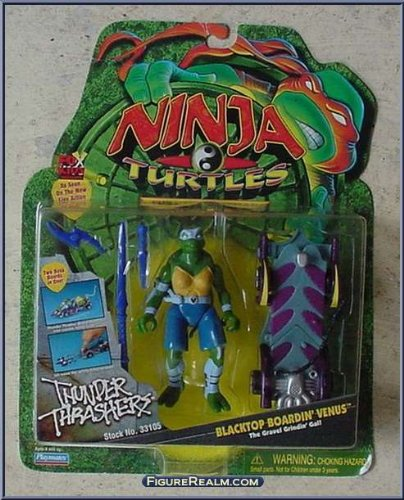 Ninja Turtles The Next Mutation Blacktop Boardin' Venus Figure: The Gravel Grindin Gal -