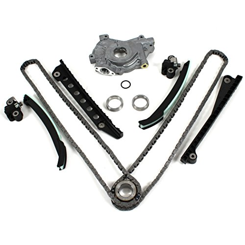 TK3060OP New Timing Chain Kit (with UPDATED Style Tensioners) & Oil Pump Set (w/ 24mm inlet) for 04-08 Ford 5.4L (3-Valve) F-150 Lincoln Mark LT Navigator ()