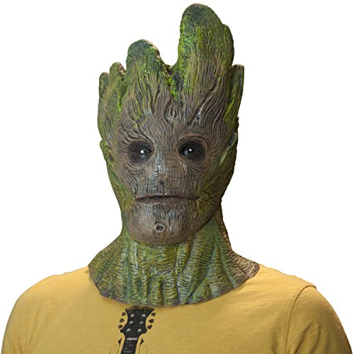 The Mask Biz Guardian Tree Man Groot Head Funny Mask Galaxy (Funny Men Costumes)
