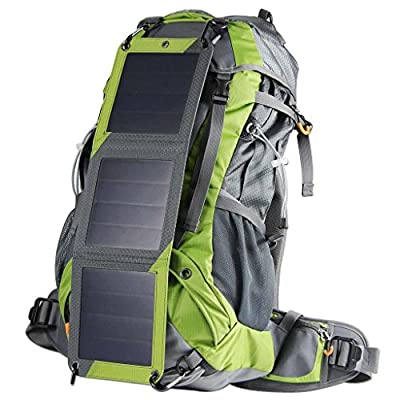 ECEEN Solar Powered Backpack Pack Sun Charged Hiking Backpack with 10 Watts Solar Charger Panel & 10k mAh Battery Pack for Cell Phones, Tablets, Digital Cameras Etc. 5v Device Charge