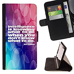 DEVIL CASE - FOR HTC Desire 820 - Intelligence Actions Knowing Quote Life - Style PU Leather Case Wallet Flip Stand Flap Closure Cover