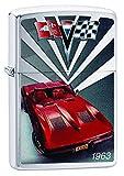Zippo Lighter Chevy Corvette 1963 Brushed Chrome