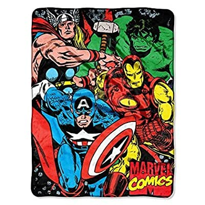The Northwest Company Marvel Avengers: We Fight Micro Raschel Blanket - 46 X 60 Inch: Kitchen & Dining