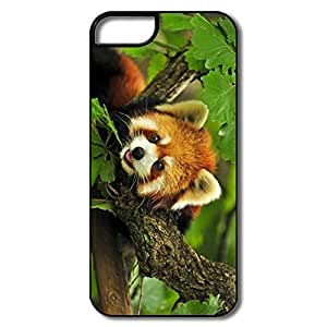 IPhone 5S Case, Red Panda Case For IPhone 5 - White/black Hard Plastic