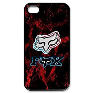 Black & Red Top Design Fox Racing iPhone 4/4S Faceplate Hard Cell Protector Housing Case Cover Snap On NEW