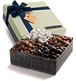 Gourmet Gift Tray, Nut Platter with Assorted Almonds Selection, Featuring Honey Roasted & Dark Chocolate Covered Almonds, 1.5 Lbs, By Benevelo Gifts