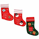 5 pcs / lot Christmas stockings Gift bag socks snowman Elk socks stockings gift holders christmas socks for candy market pendant