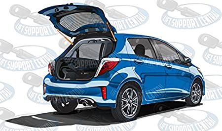 Left and Right Side WGS-586-2 Wisconsin Auto Supply Two Rear Hatch Gas Charged Lift Supports for 2007-2012 Dodge Caliber Without Speakers in Rear Liftgate