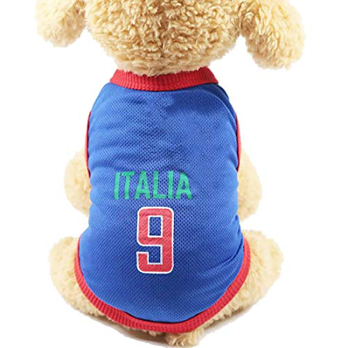 GabeFish Dog World Cup T Shirt Pets Football Jersey Sports Soccer National Team Vest Cat Summer Cool Clothes Apparel…