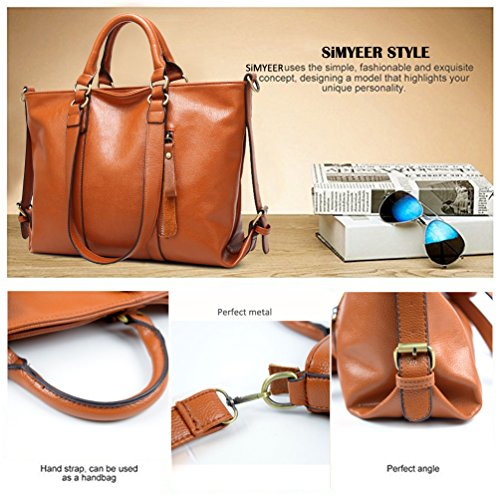 ff1c87ea3806 Women Top Handle Satchel Handbags Shoulder Bag Top Purse Messenger Tote Bag  SiMYEER